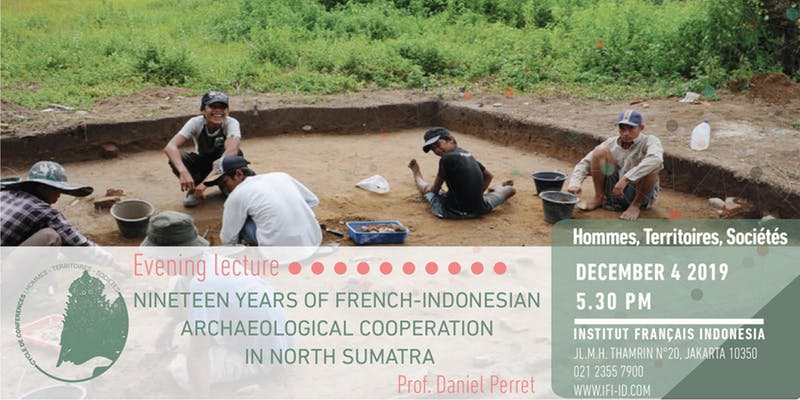 Poster for the conference Nineteen Years of French-Indonesian Archaeological Cooperation in North Sumatra
