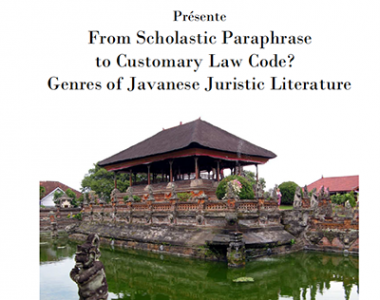 From Scholastic Paraphrase to Customary Law Code? Genres of Javanese Juristic Literature