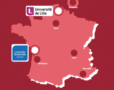 La Rochelle and Lille: 2 new universities join GIS Asie in 2021