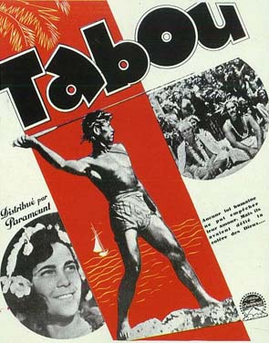 Poster of the movie 'Tabou' by F. W. Murnau and R. Flaherty (1931)