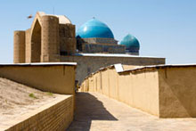 Khodja Akhmet Yasawi Mausoleum in the city of Turkestan