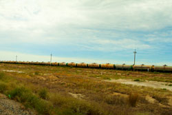 Oil train from Aktau going to Russia