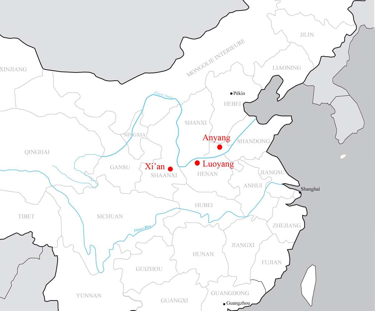 Anyang China  city photos : Ancient Anyang Map Monthly articles chinese writing from its origins ...