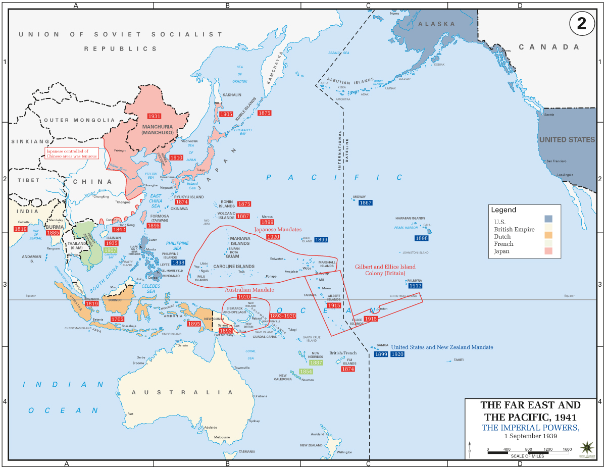 Monthly Articles Japan And The Pivot To The Pacific - Map of japan and the us