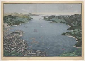 Nagasaki Harbour, Kawahara Keiga (workshop of), c. 1833 - c. 1836